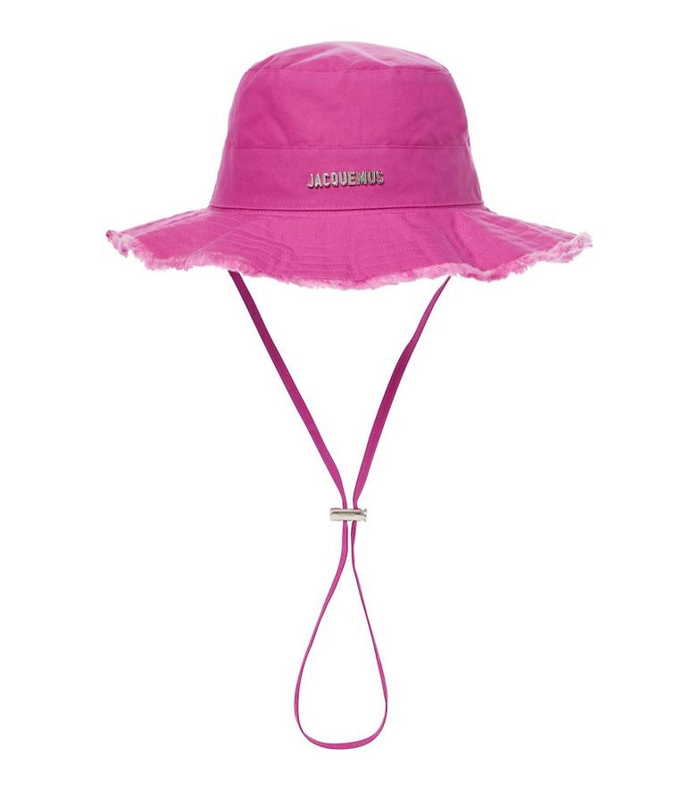 Jacquemus Le Bob Artichaut bucket hat in purple
