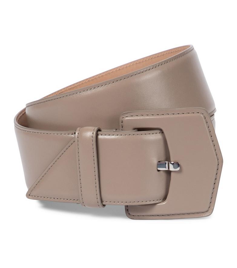Alaïa Leather belt in grey