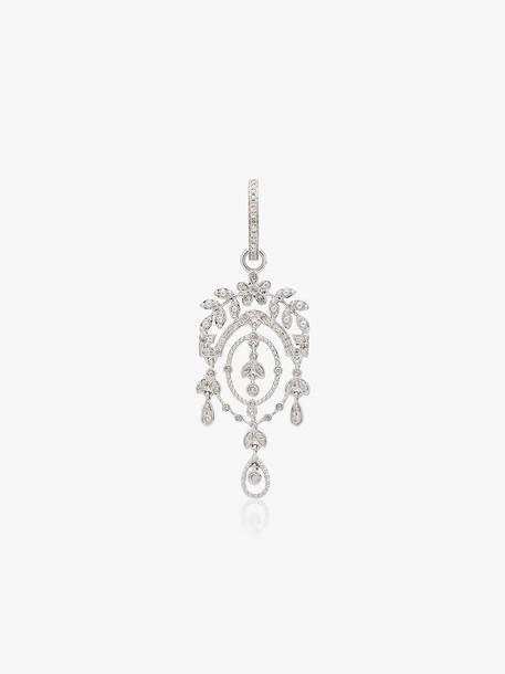 Yvonne Léon Creole Feuilletis Diamond Earrings in silver
