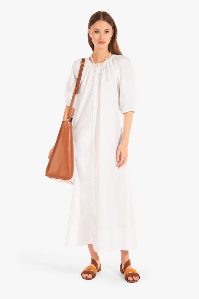 Staud VINCENT DRESS | WHITE