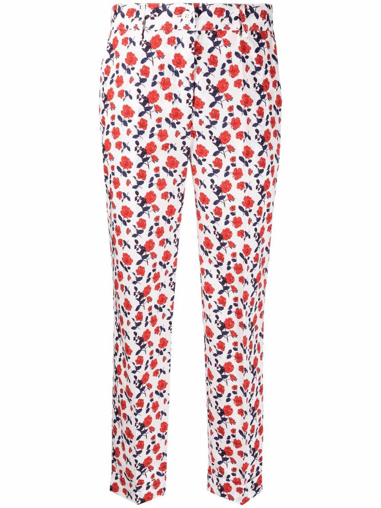 P.A.R.O.S.H. P.A.R.O.S.H. floral-print cotton trousers - White