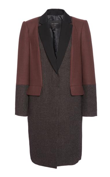 Equipment Blocked Arostide Wool-Blend Jacket Size: 0 in black