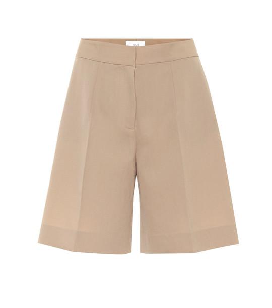 Victoria Victoria Beckham High-rise wool-blend shorts in beige