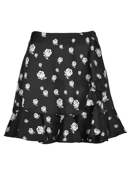 Kenzo Skirt Roses in rose / black