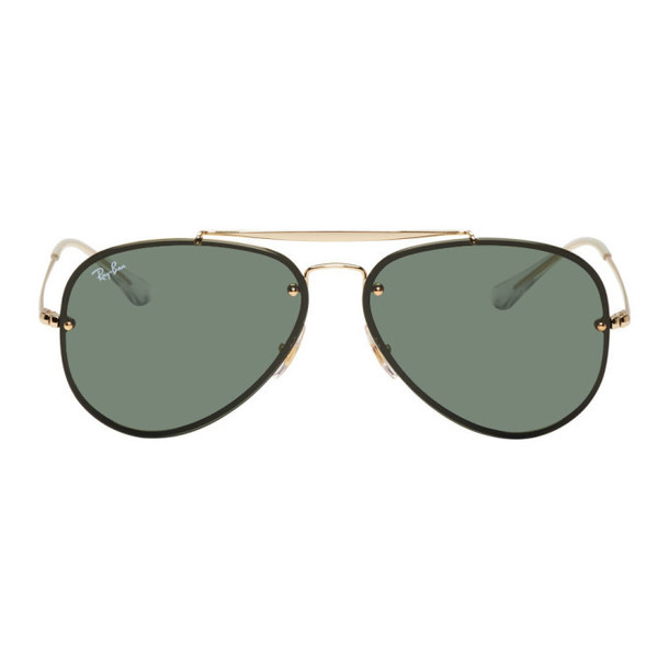 Ray-Ban Gold & Green Blaze Highstreet Sunglasses