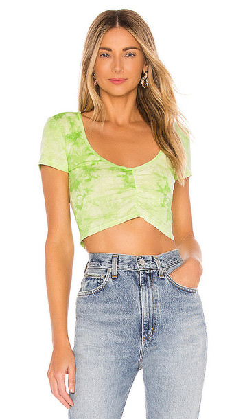 superdown Penni Ruched Top in Green