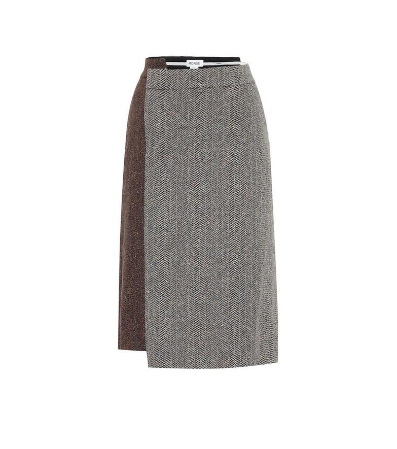 Monse Wool and silk-blend skirt