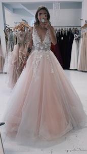 dress,pink dress,floral dress,prom dress