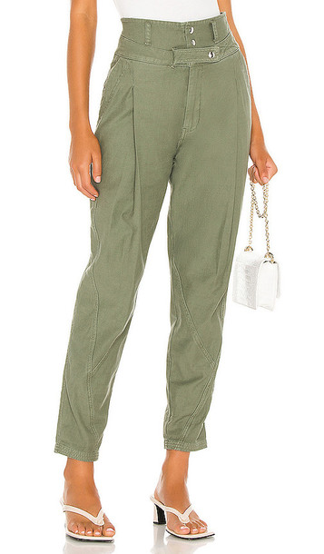 FRAME Twisted Trouser in Green