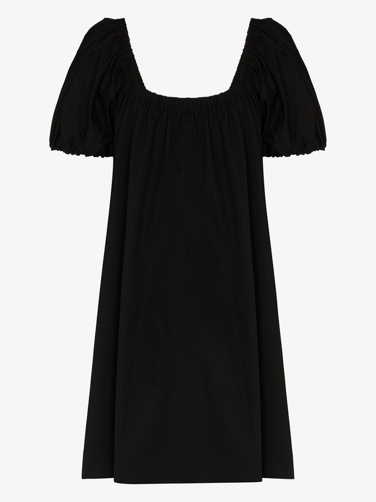 Molly Goddard Honey gathered mini dress in black