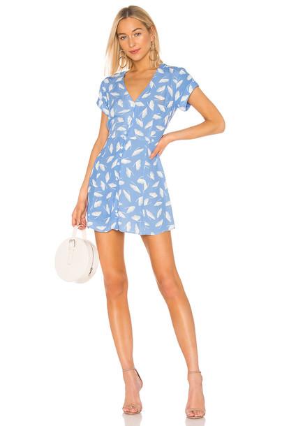 Capulet Mabel Mini Dress in blue