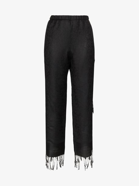 Collina Strada Tassel Cargo Trousers in black