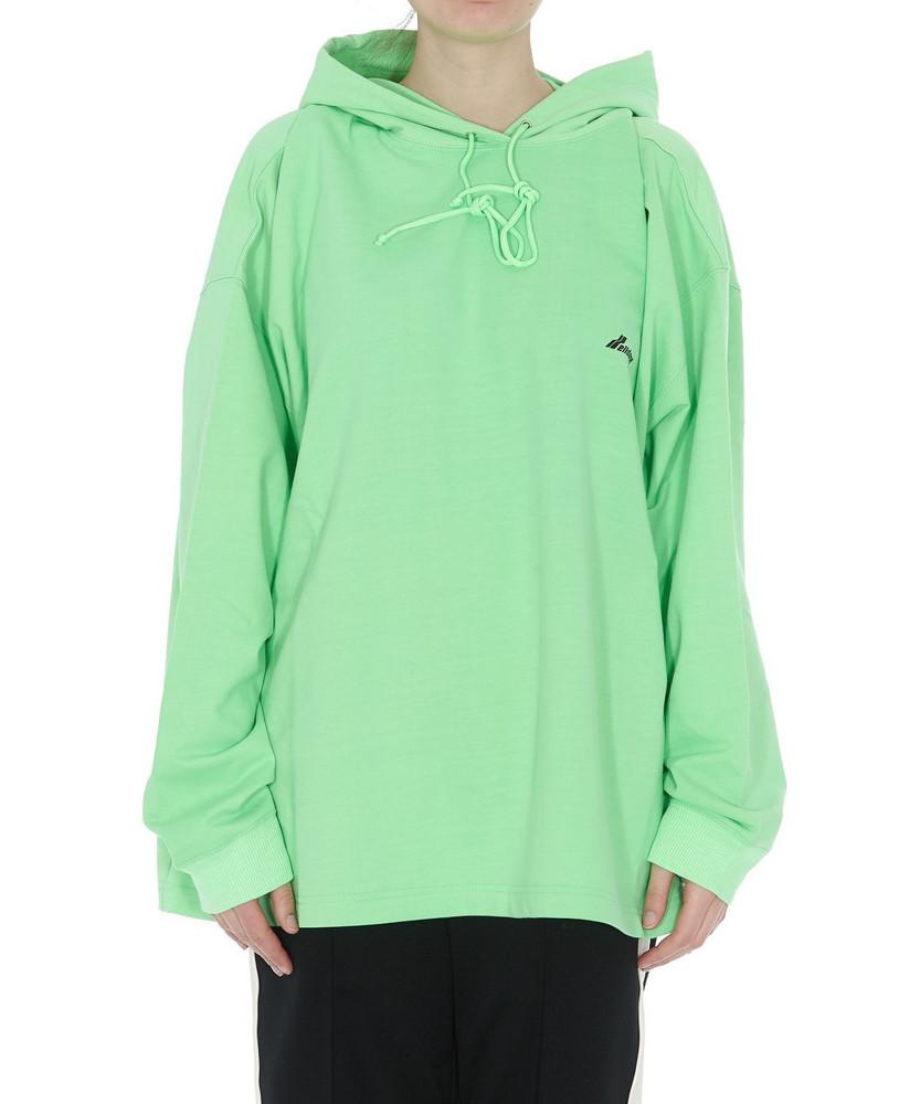 We11 Done Neon Hoodie in green