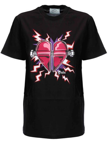 Prada Jwp St. Heart T-shirt in nero