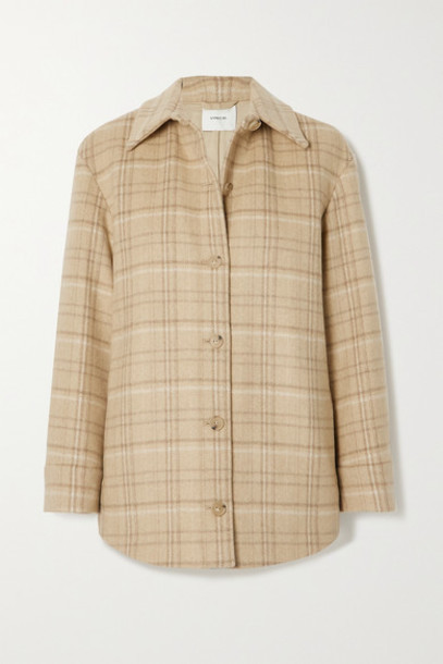 Vince - Checked Wool-blend Jacket - Beige