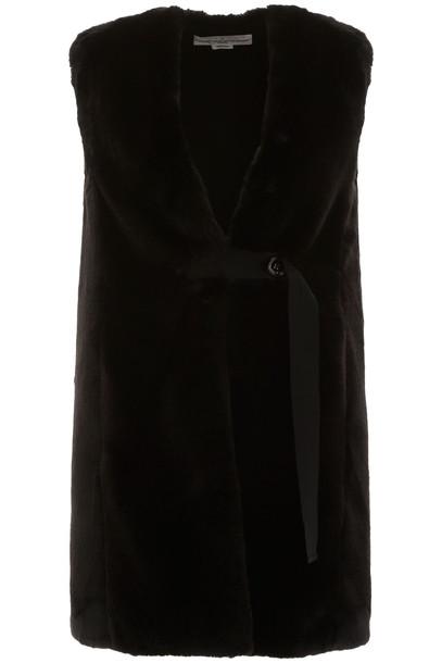 Golden Goose Faux Fur Vest in black