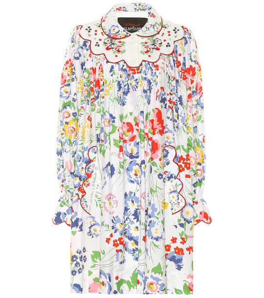 Marc Jacobs x D. Porthault The Smock floral cotton minidress in white
