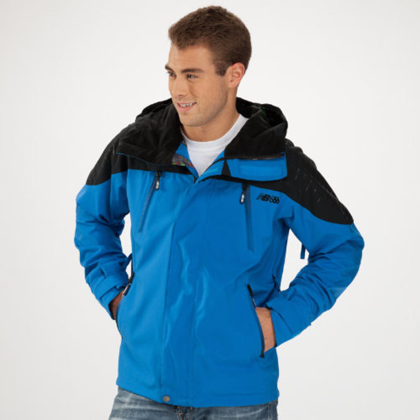 New Balance 1400 Men's New Balance Quantum Jacket - Vision Blue, Caviar (MOJ1400VIS)