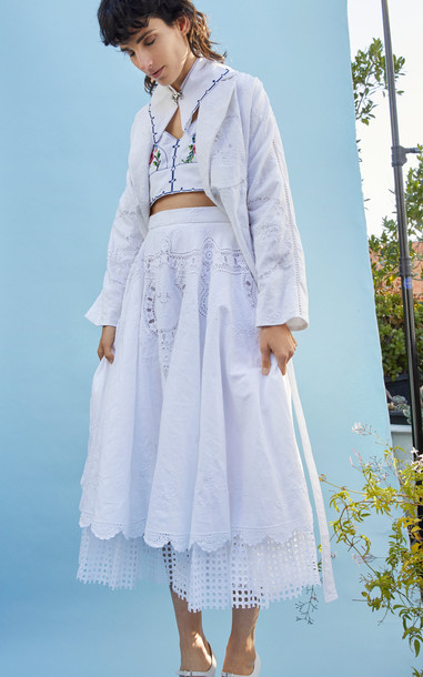 nevenka Their Medicine White Crochet Skirt