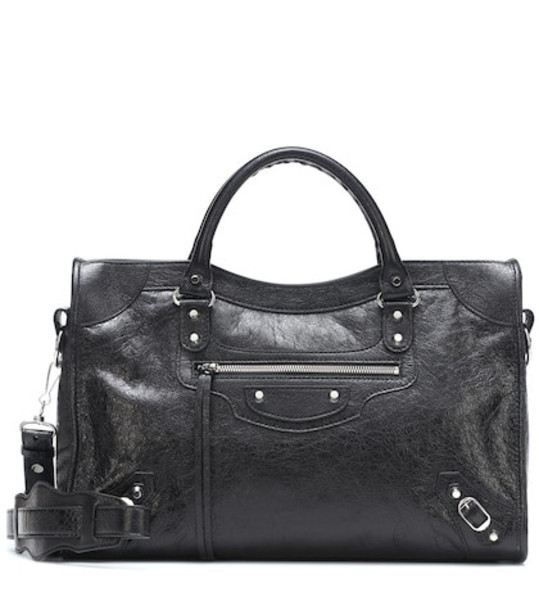 Balenciaga Classic City S leather tote in black