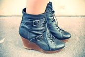 boots,wedges,buckles,black shoes,shoes