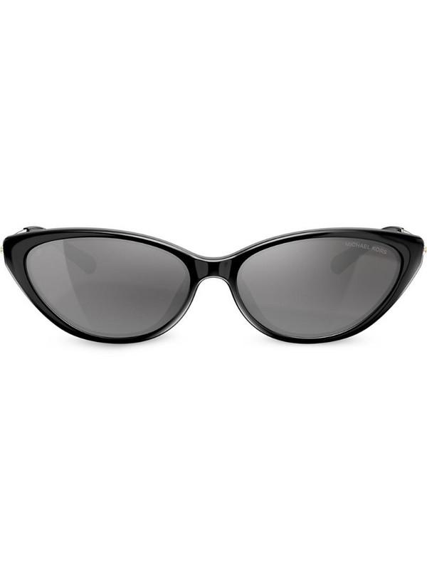 Michael Kors cat eye frame engraved logo sunglasses in black