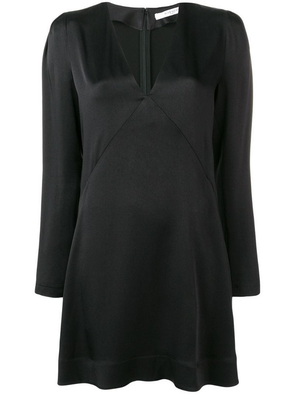 Givenchy empire line V-neck dress in black