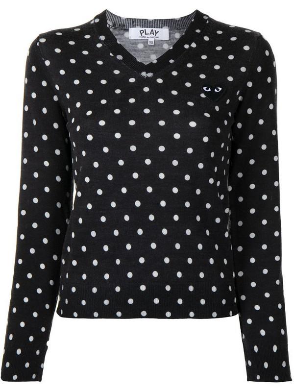 Comme Des Garçons Play polka dot print wool jumper in black