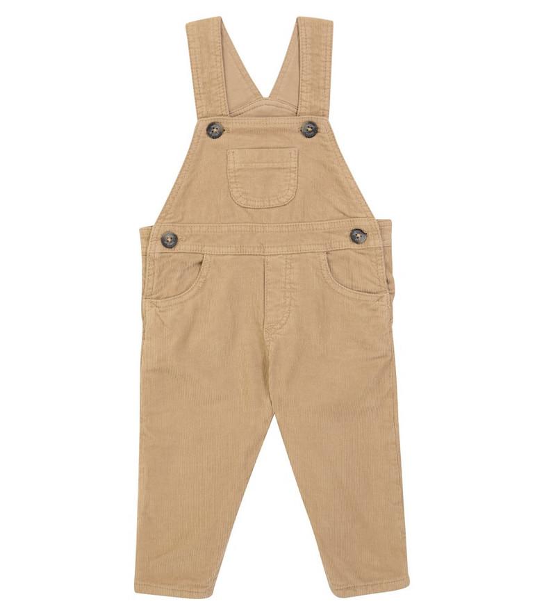 Tartine et Chocolat Baby cotton corduroy overalls in beige