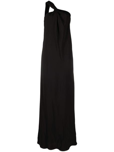 Brunello Cucinelli floor-length one-shoulder dress in black