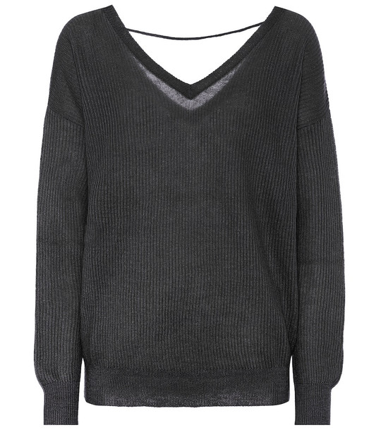 Brunello Cucinelli Wool-blend sweater in black