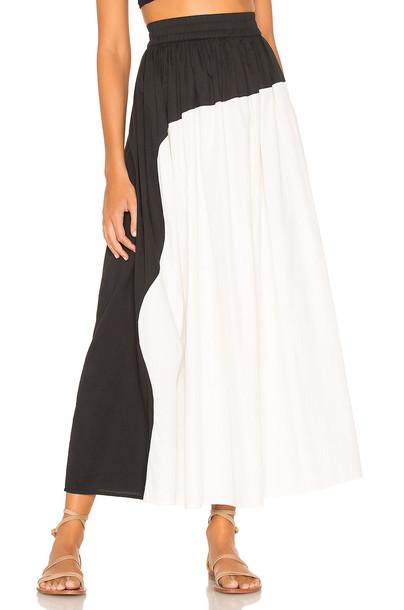 Mara Hoffman Ari Skirt in black / white