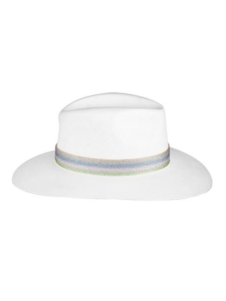 Maison Michel Striped Band Panama Hat