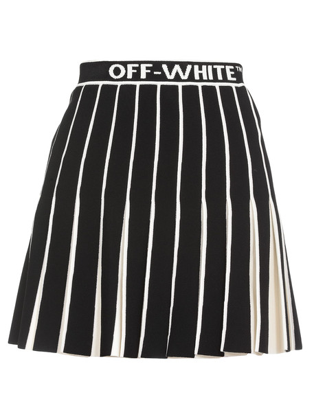Off-White Ribbed Skirt in black