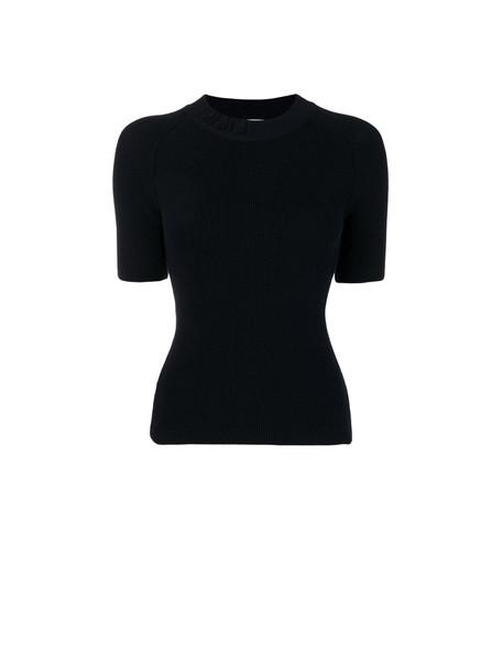 Fendi Fendi Short Sleeve Sweater in black