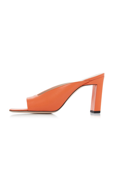Wandler Isa Leather Sandals in orange