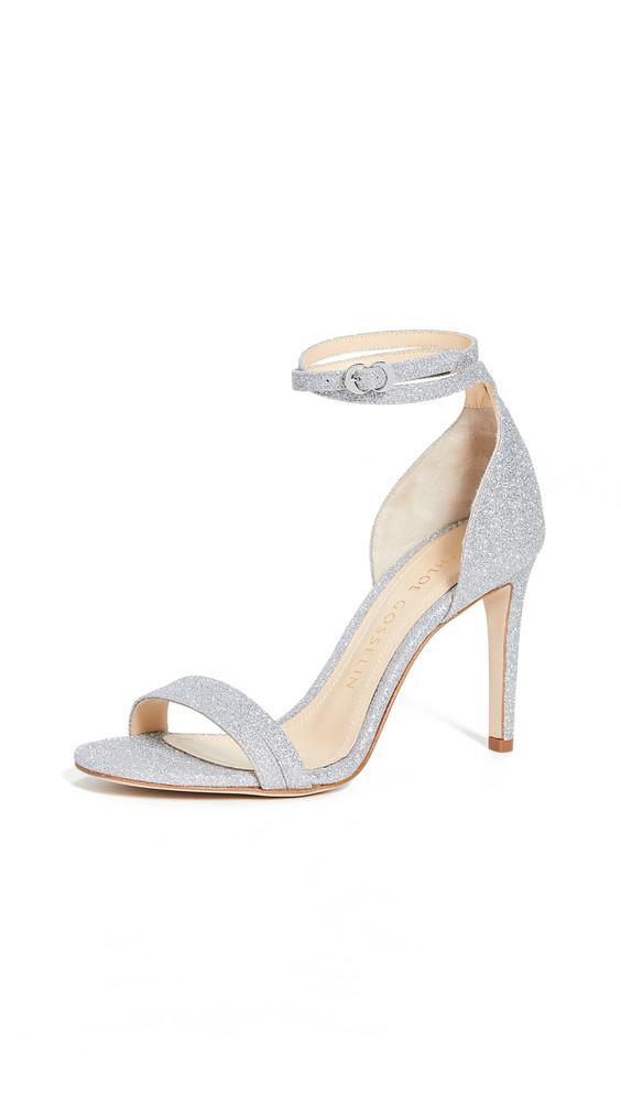 Chloe Gosselin Narcissus 90 Glitter Sandals in silver