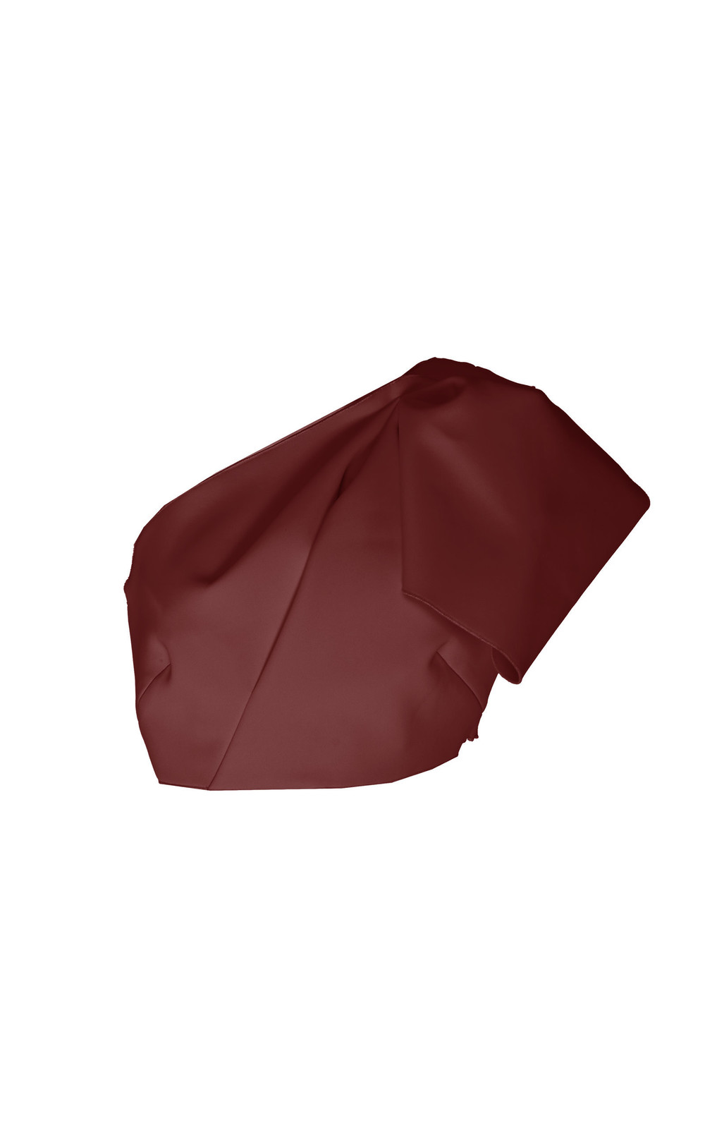 Acler Mancroft Cropped One Shoulder Detail Top in burgundy
