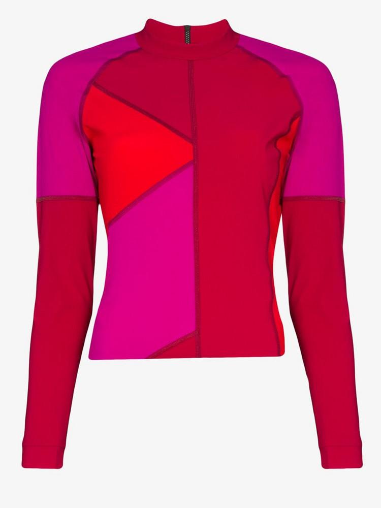 LNDR Malibu colour block rashguard top in pink