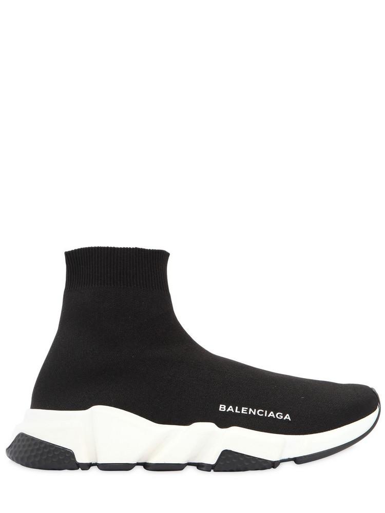 BALENCIAGA 30mm Speed Knit Sock Sneakers in black / white