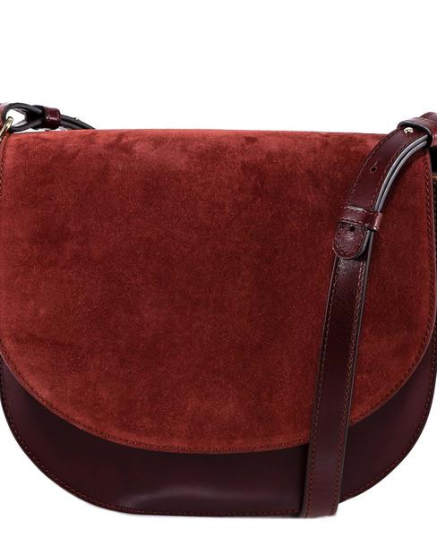 Closed Saddle Bag Shoulder Bag in red