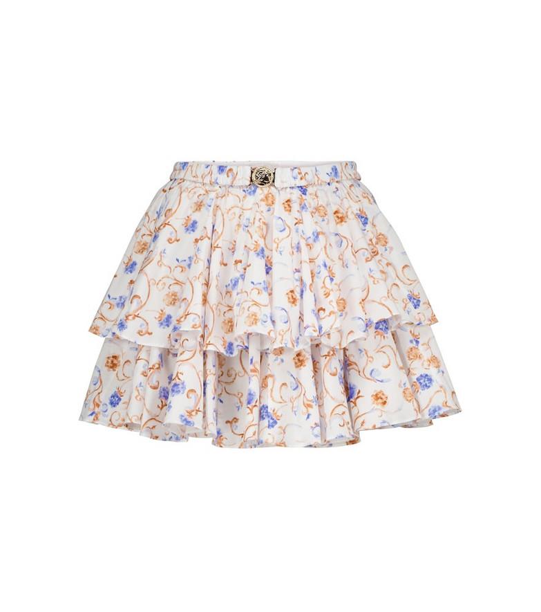 Caroline Constas Reign floral cotton-blend miniskirt in black