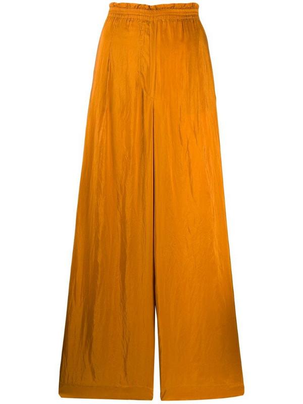 Forte Forte wide-leg silk trousers in orange