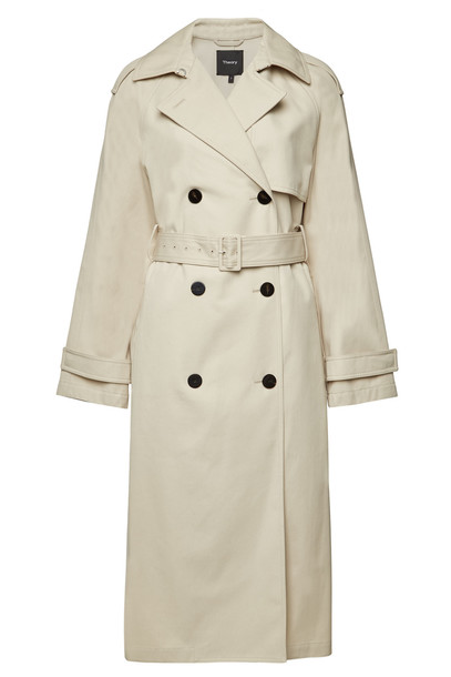 Theory Staple Classic Trench Coat  in beige / beige