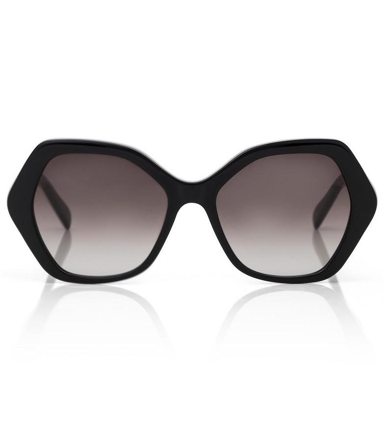 Celine Eyewear Geometric acetate sunglasses in black