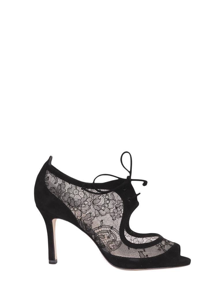 Antonio Barbato Lace Sandals in black