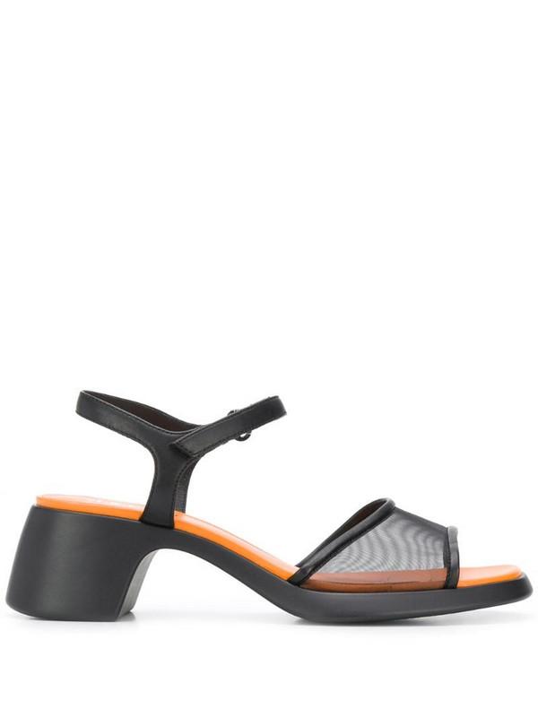 Camper TWS 60mm mid-heel sandals in black