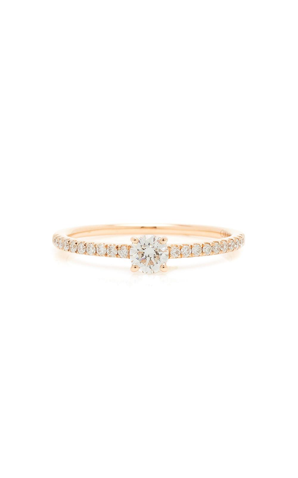 Anita Ko Me/You Round Diamond 18K Gold Ring in pink