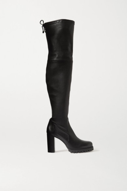 Stuart Weitzman - Zoella Leather Over-the-knee Boots - Black