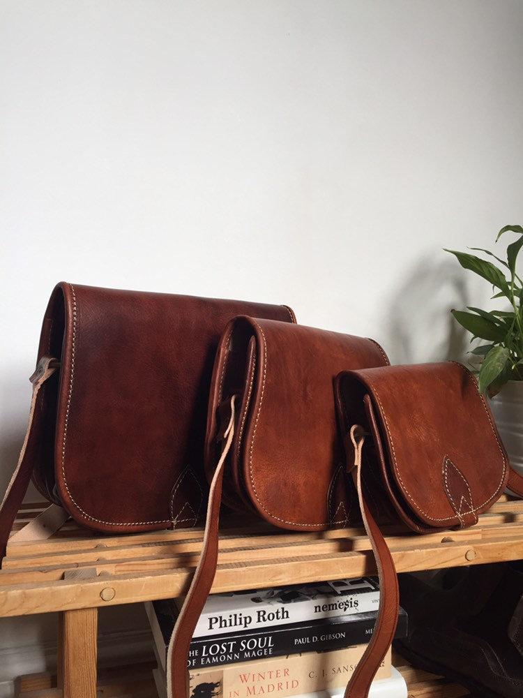 crossbody bag leather saddle bag bag